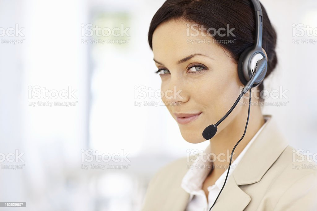 Pretty call center agent royalty-free stock photo