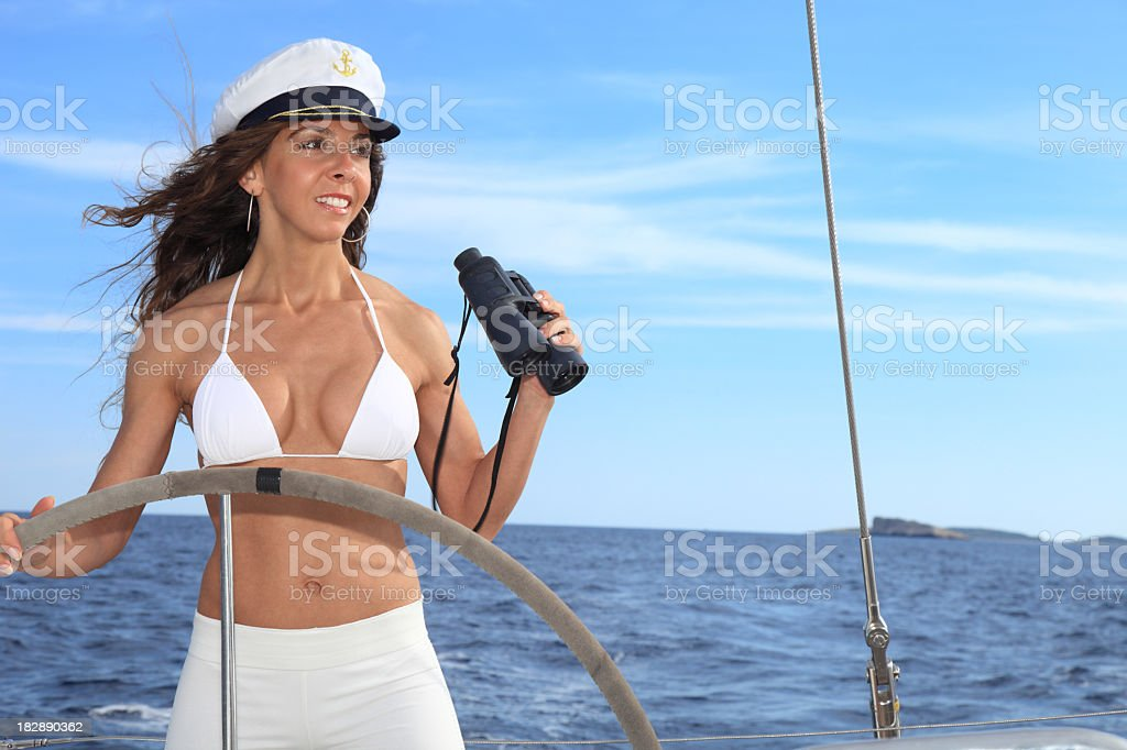 Pretty Captain royalty-free stock photo