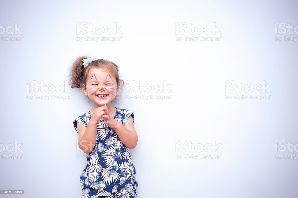 Pretty Cat Girl stock photo