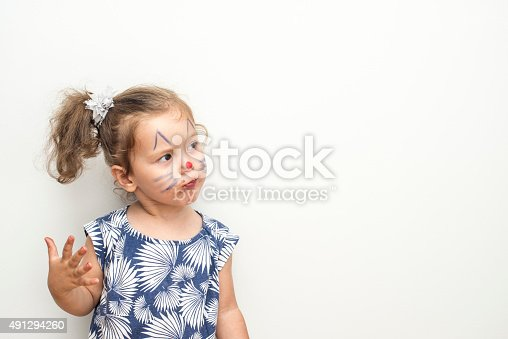 istock Pretty Cat Girl 491294260