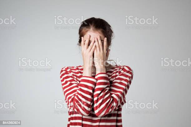Pretty caucasian girl covers her face with her hands picture id844360924?b=1&k=6&m=844360924&s=612x612&h=xqbg6vsxzh921wxluv365lhxgcho bdgsd3ourk9vdg=