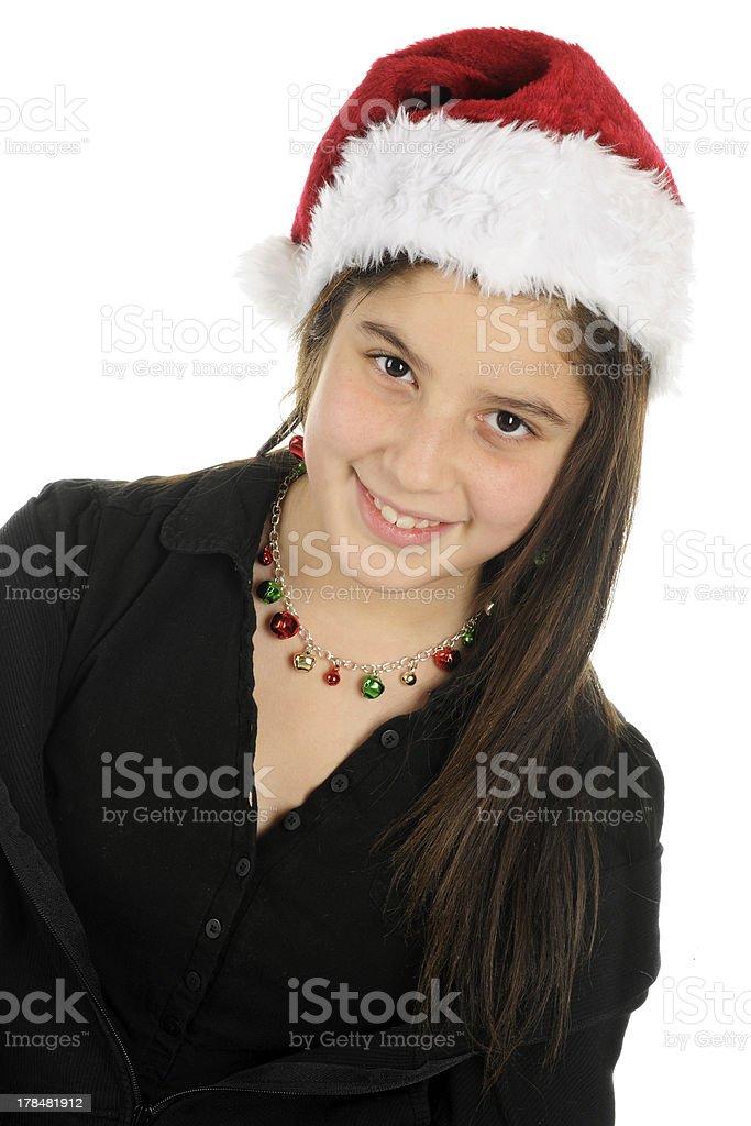 Pretty Christmas Tween royalty-free stock photo