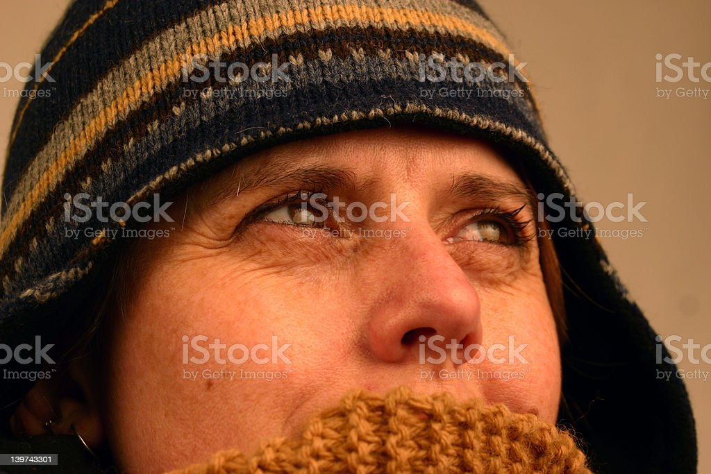 Pretty Cold royalty-free stock photo