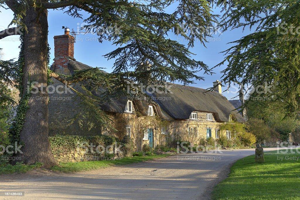 Pretty Cotswold village stock photo