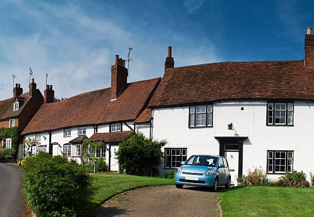 Hübsche cottages in einem englischen village – Foto