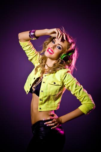 149411010 istock photo Pretty disco girl 155282051