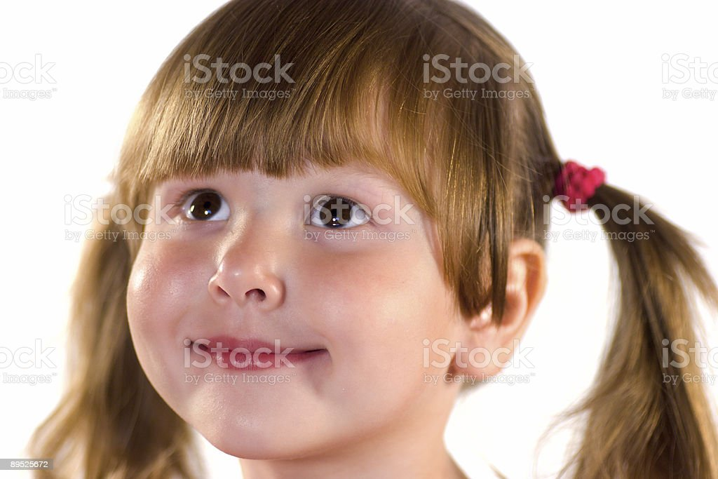 Pretty dreaming little girl royalty-free stock photo