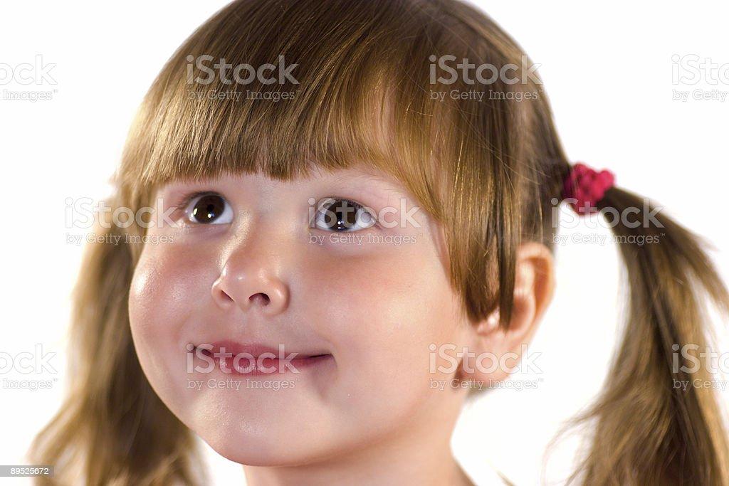 Hübsche kleine Mädchen Träumen Lizenzfreies stock-foto
