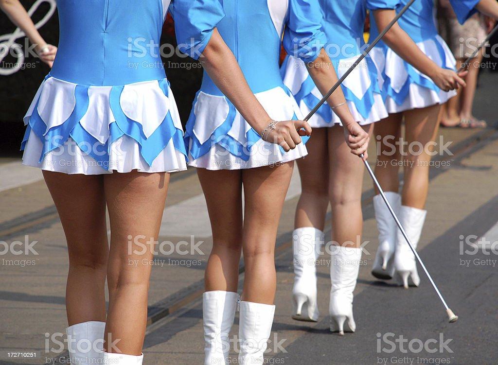 pretty tambor majorettes - foto de stock
