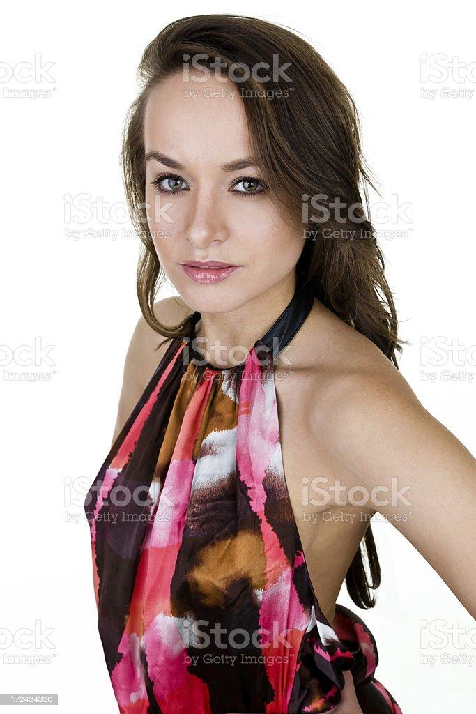 Pretty European woman royalty-free stock photo