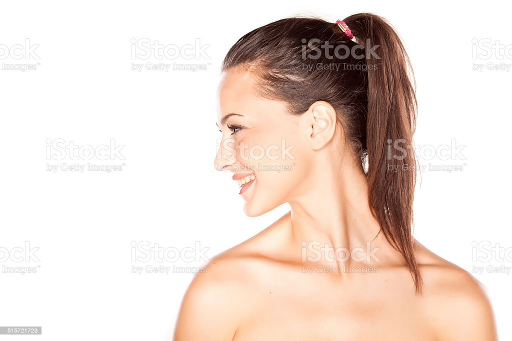 Pretty face stock photo