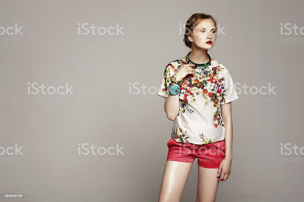 pretty fashion model stock photo