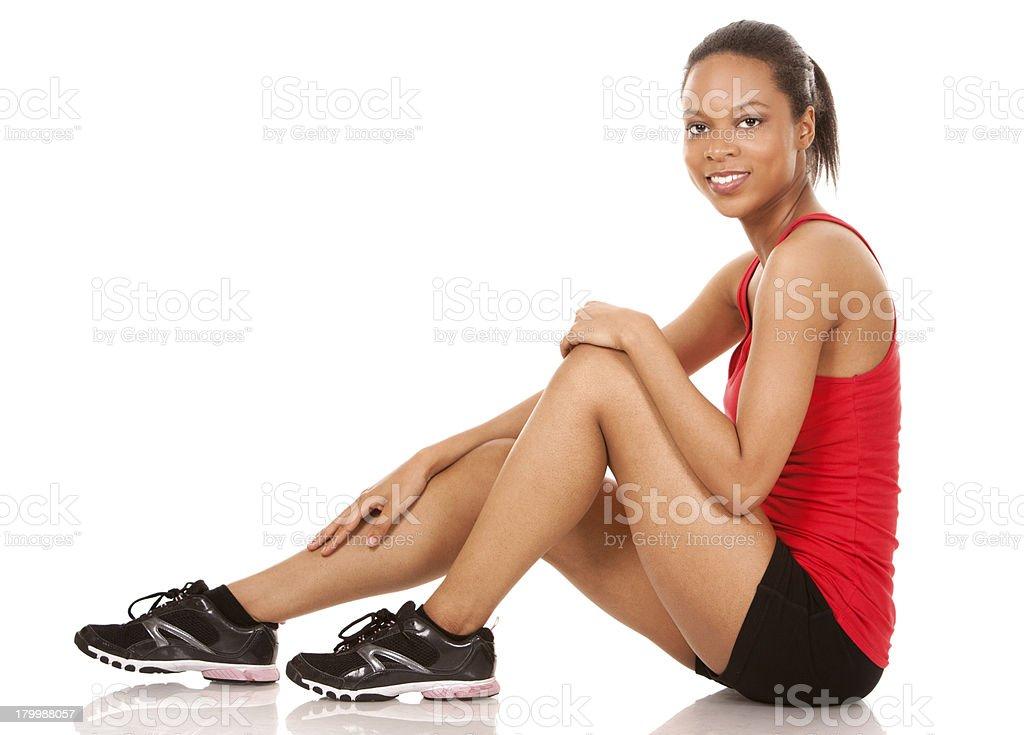 pretty fitness woman royalty-free stock photo
