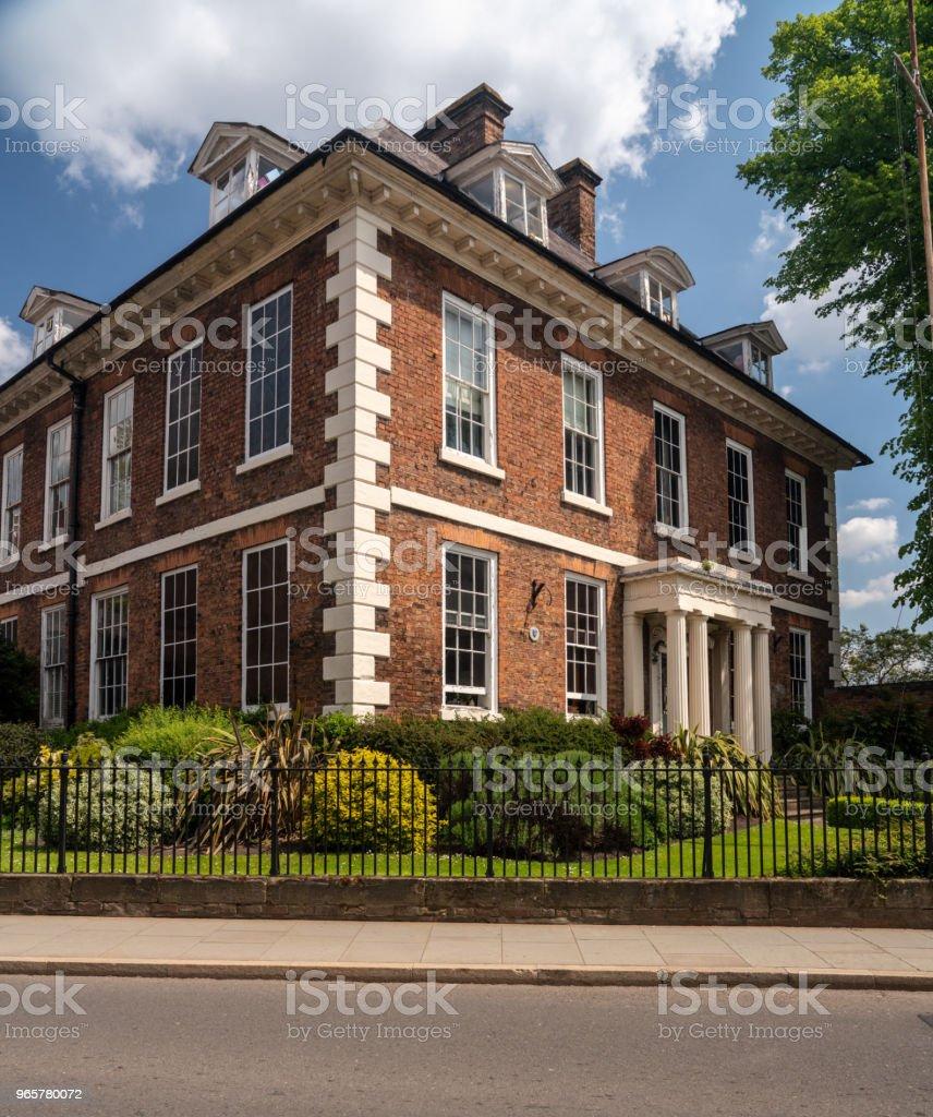 Mooi Georgiaans huis of appartement vakantiehuizen met privé zwembad in Shrewsbury - Royalty-free Antiek - Toestand Stockfoto