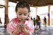 Child at school carnival in Brazil