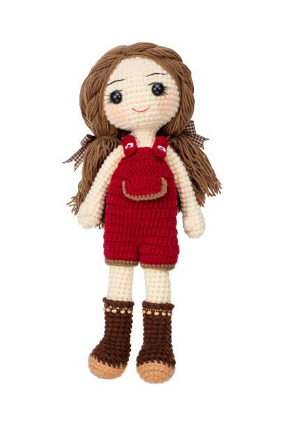 漂亮的女孩娃娃鉤針手工使 - 公仔 個照片及圖片檔