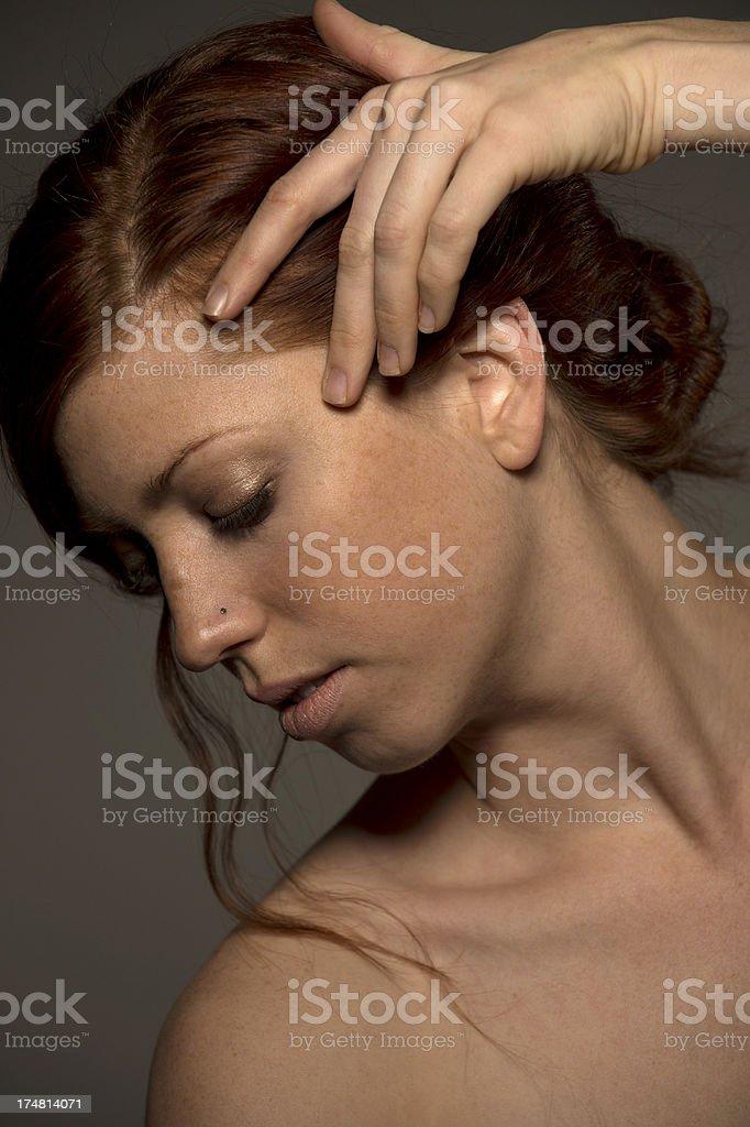 Pretty Girl head shot royalty-free stock photo