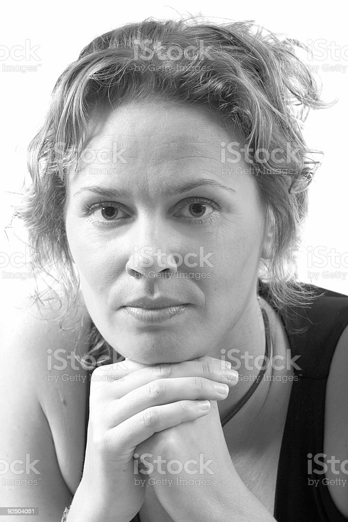 Pretty girl in b&W royalty-free stock photo