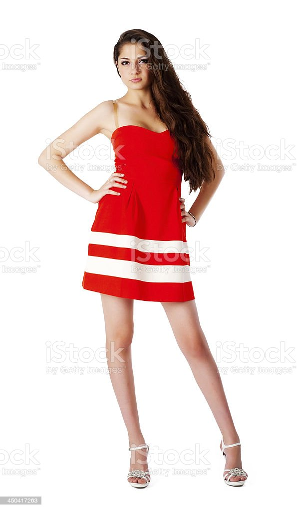 Pretty girl in red - Royalty-free 20-24 Years Stock Photo