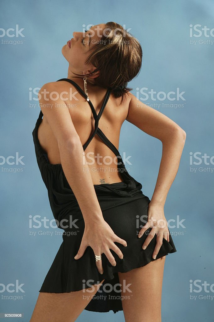 pretty girl in sexy dress royalty-free stock photo