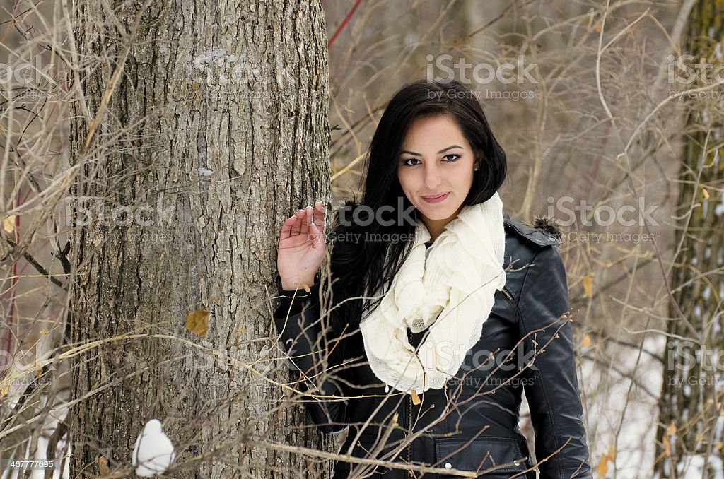 Pretty Girl Pose royalty-free stock photo