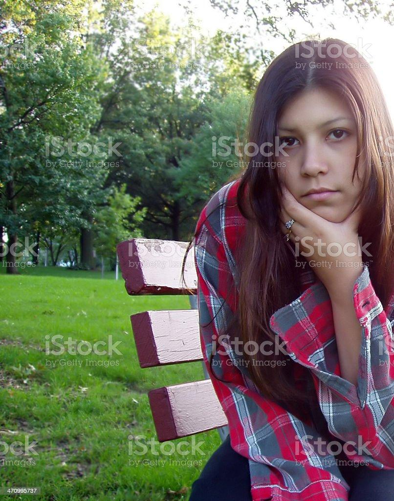 Pretty Girl - Thinking stock photo
