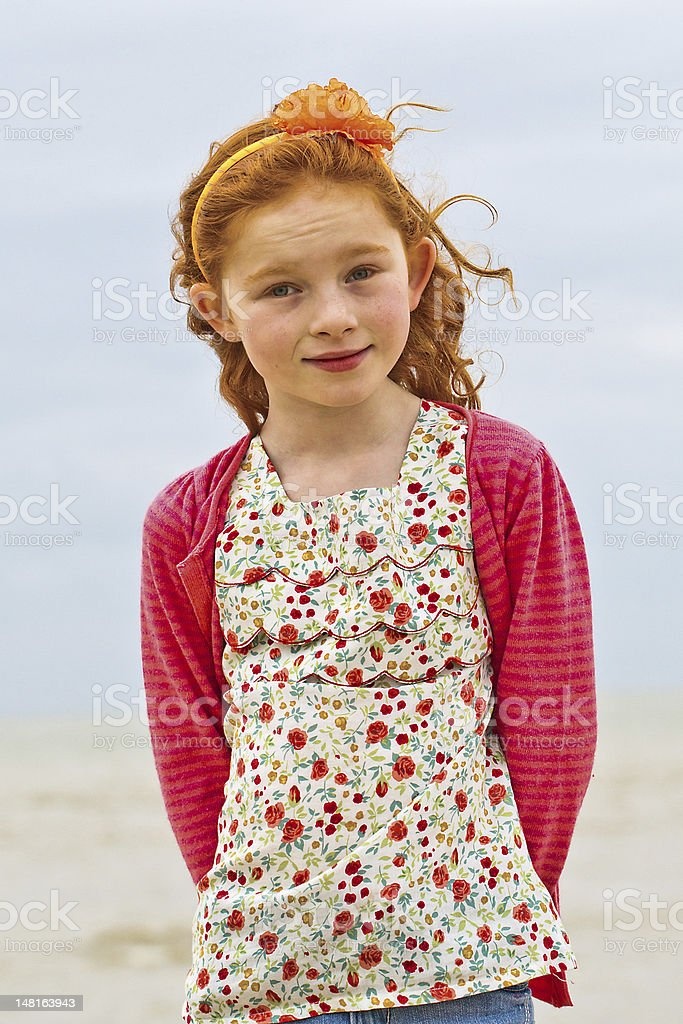 Pretty girl with a cute smile stock photo
