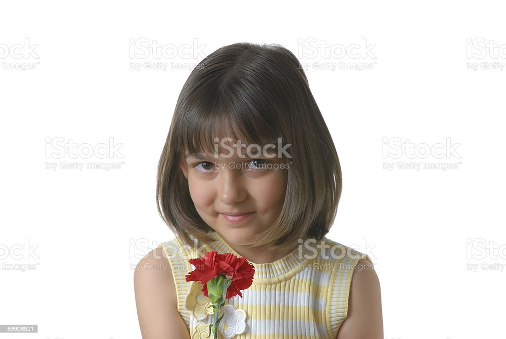 Pretty girl with a flower royalty-free stock photo