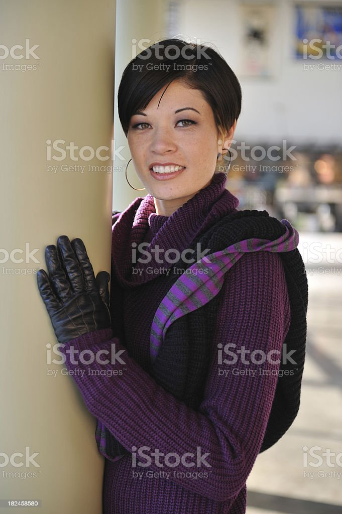 Pretty girl with short hair royalty-free stock photo