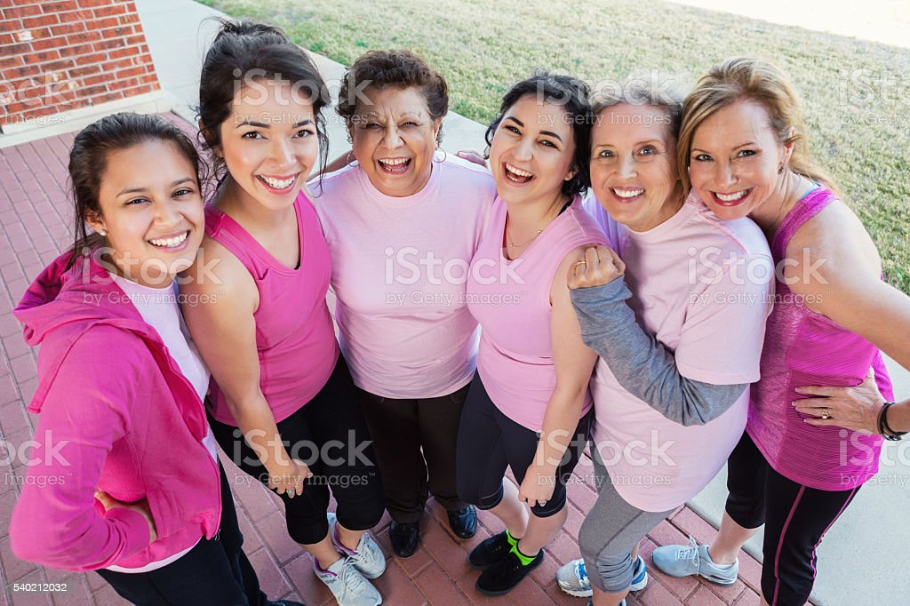 Pretty group of women after charity event stock photo