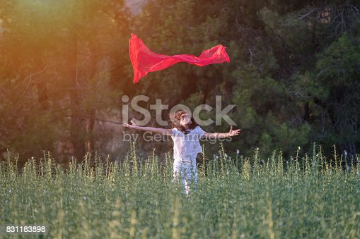 521982322 istock photo Pretty Happy women relaxing and dancing on a grass 831183898