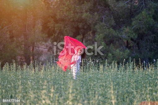 521982322 istock photo Pretty Happy women relaxing and dancing on a grass 844472144
