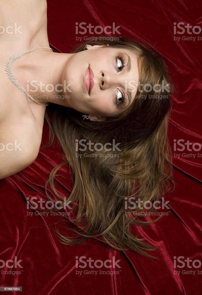 pretty headshot royalty-free stock photo