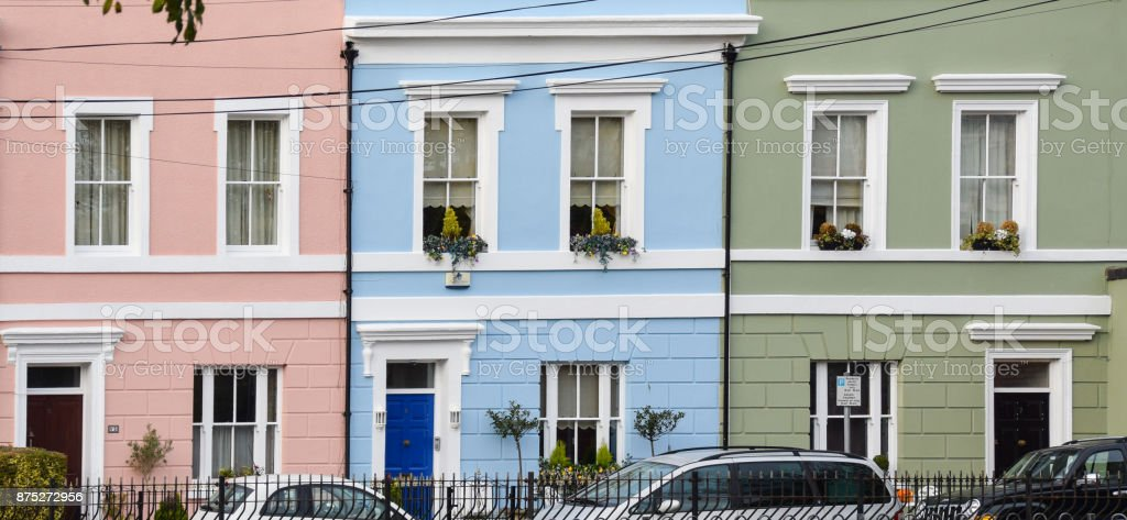 Pretty houses stock photo