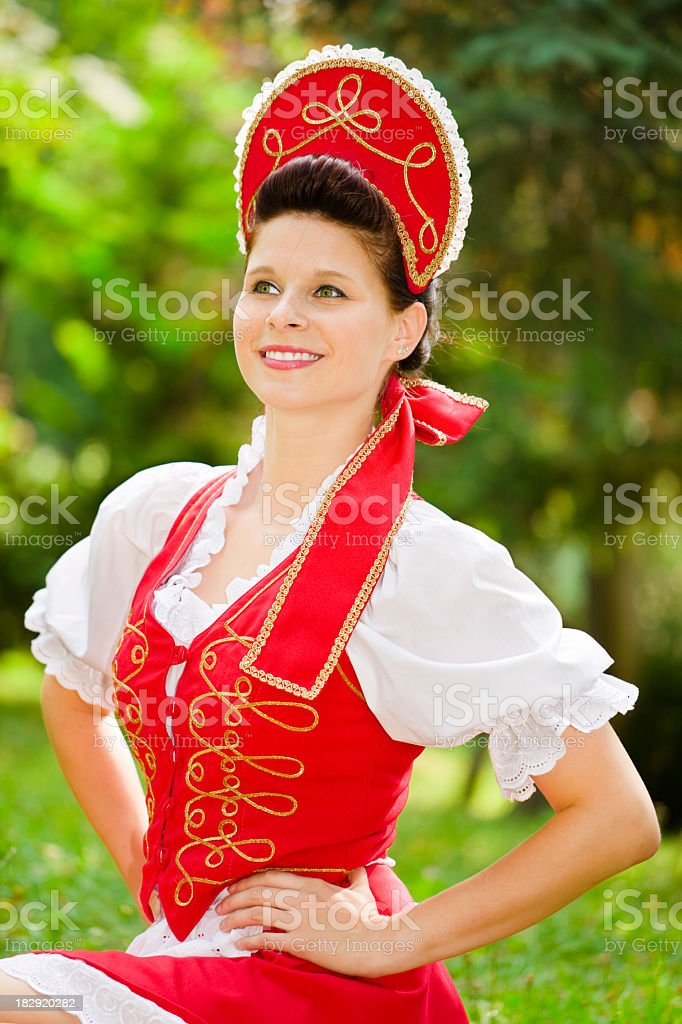 Pretty Hungarian girl stock photo