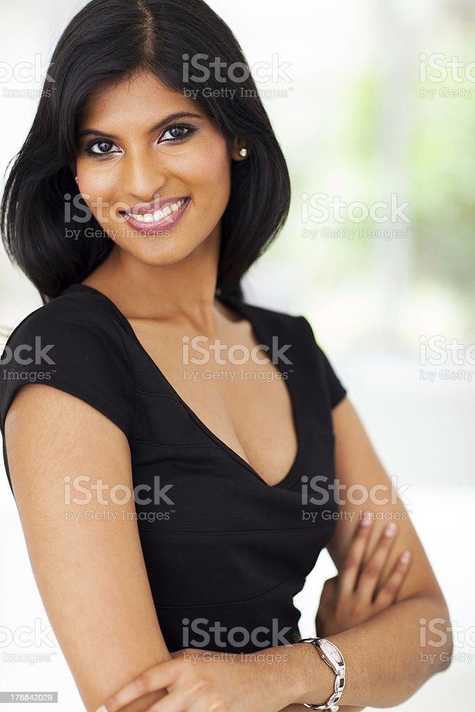 pretty indian businesswoman royalty-free stock photo