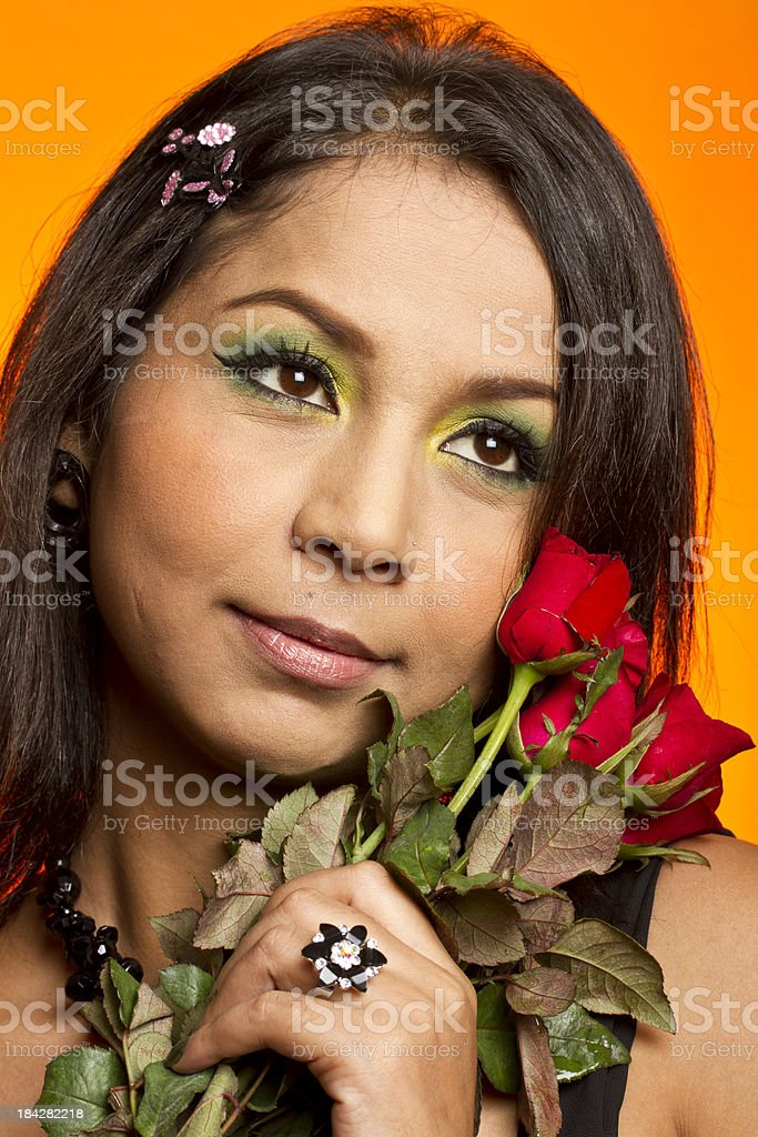 Pretty Indian girl in love royalty-free stock photo