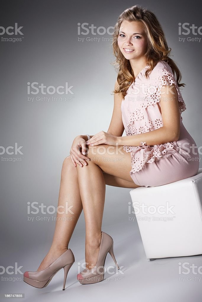 Pretty lady royalty-free stock photo