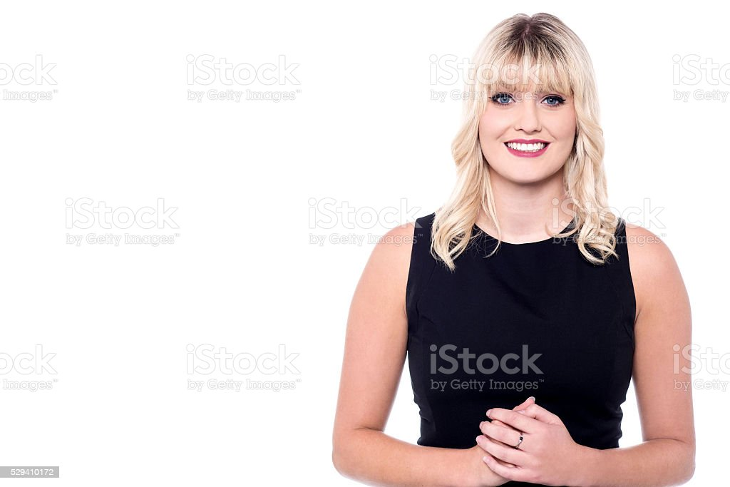 Pretty lady with a pleasant smile royalty-free stock photo