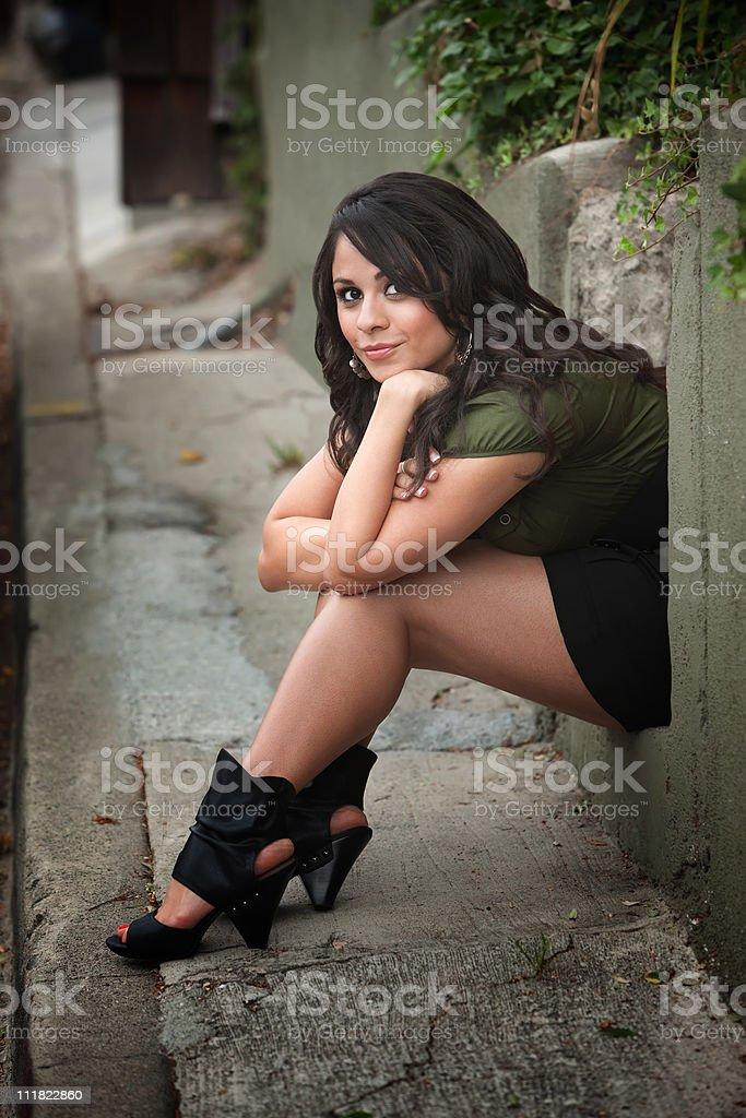 Pretty Latina Woman stock photo