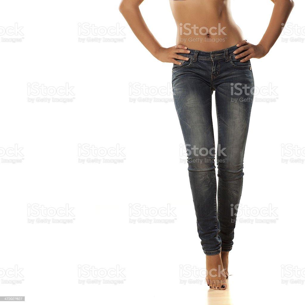 pretty legs stock photo