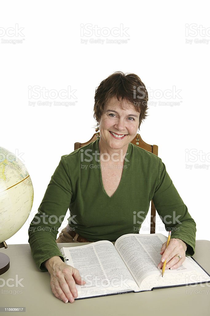 Pretty Librarian royalty-free stock photo