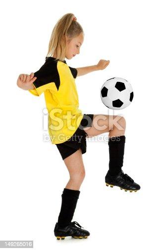 istock Pretty Little Soccer Girl 149265016