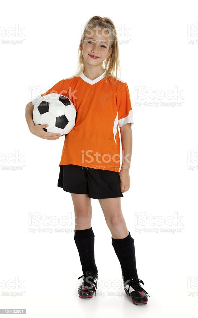 Pretty Little Soccer Player stock photo