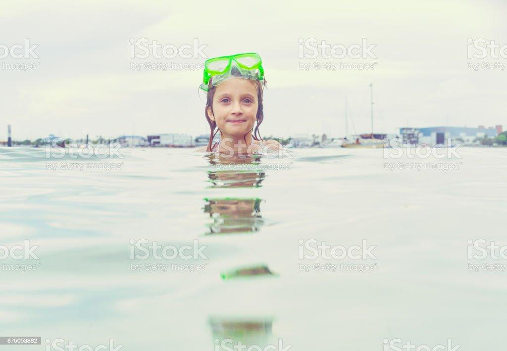 Pretty Little Swimmer stock photo