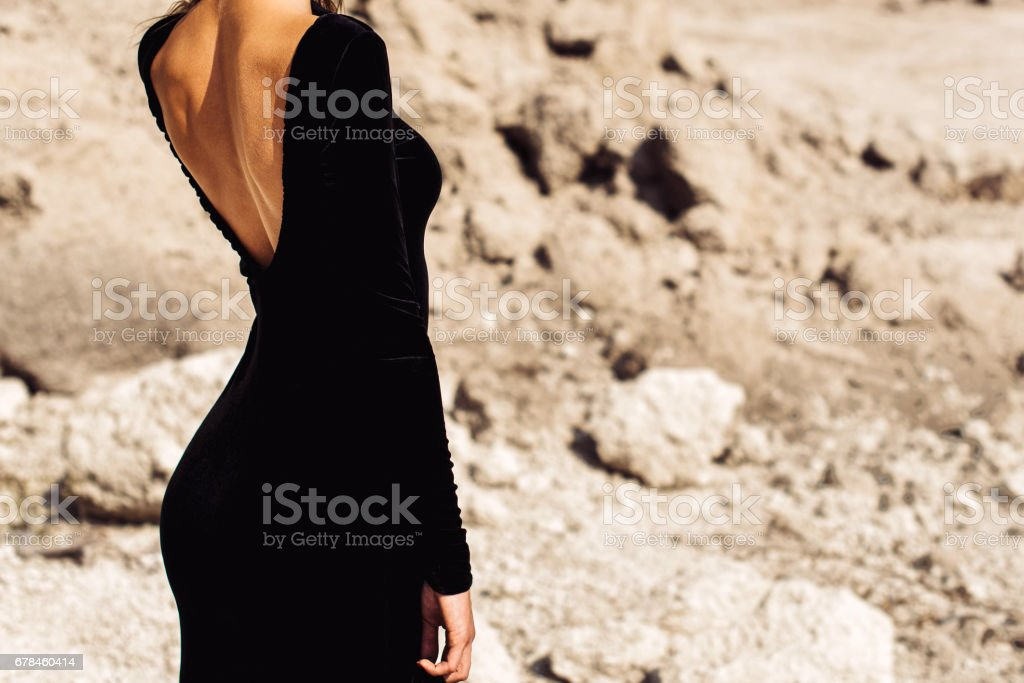 Pretty long hair girl outdoor royalty-free stock photo