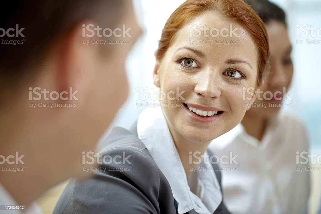 Pretty manager royalty-free stock photo