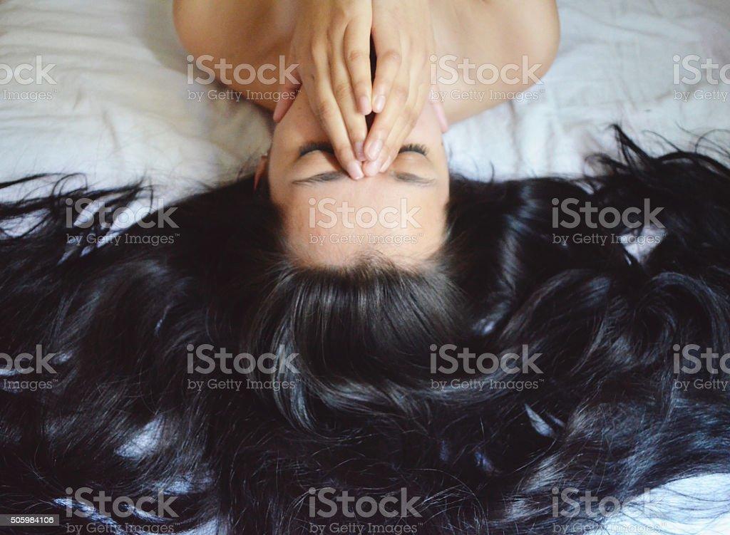 Pretty Messy Hair stock photo