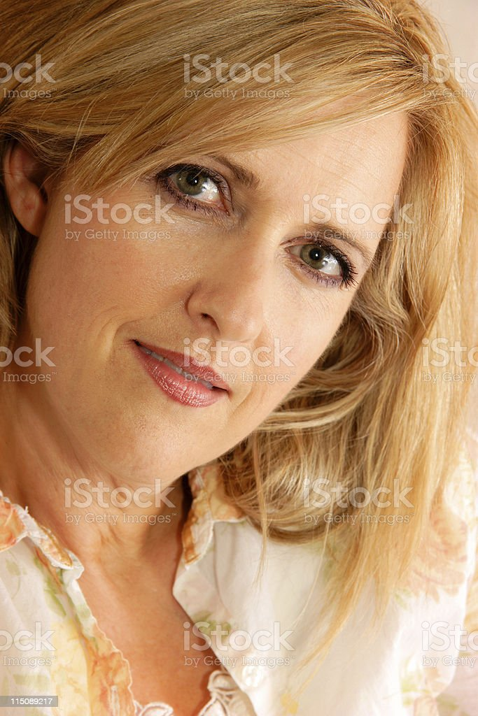 pretty middle aged woman royalty-free stock photo