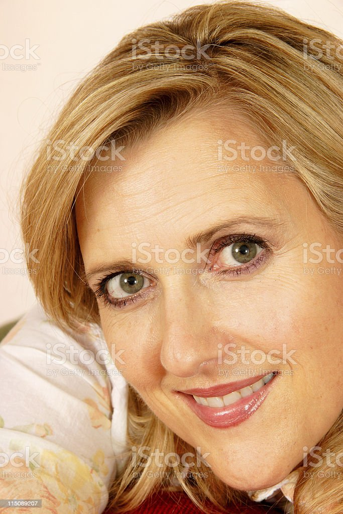 pretty middle aged woman portrait royalty-free stock photo
